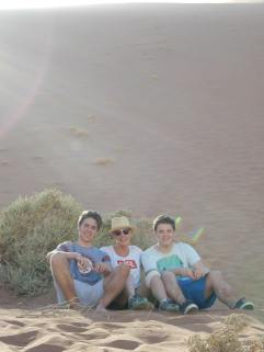 with my boys, Namibia.